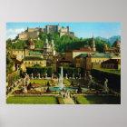 Österreich, Salzburg, Schloss Hollenberg, Gärten Poster
