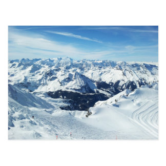 Österreich-Skigebirgsreisealpen-Schneelandschaft Postkarte