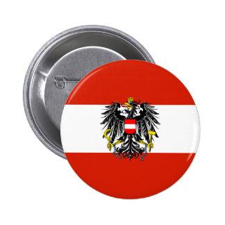Österreich-Staats-Flaggen-Knopf Runder Button 5,1 Cm