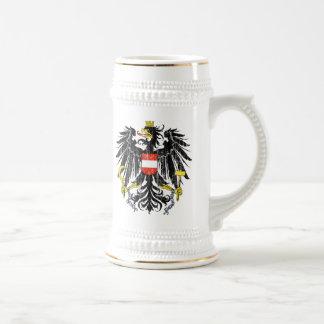 Österreich-Wappen Bierglas