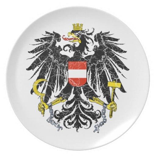 Österreich-Wappen Flacher Teller