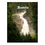 Österreich-Wasserfall Postkarte