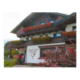 Österreich, Zillertal Dorfpost Postkarte