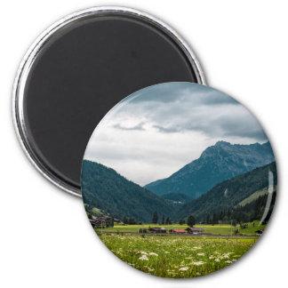 Österreichische Alpen Runder Magnet 5,1 Cm
