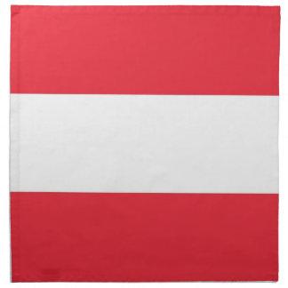 Österreichische Flagge auf MoJo Serviette