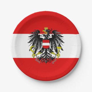 Österreichische Flagge Pappteller