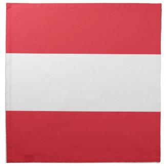 Österreichische Flagge Serviette