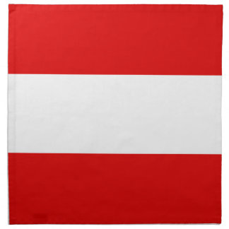Österreichische Flagge Stoffserviette