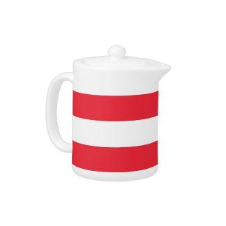 Österreichische Flaggen-Teekanne