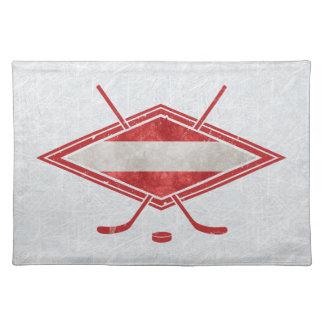 Österreichische Hockey-Flagge Österreich Stofftischset