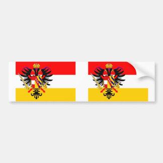 Österreichische niedrige Länder, Belgien-Flagge Autoaufkleber