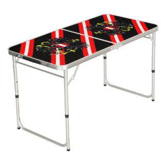 Österreichische Streifenflagge Beer Pong Tisch