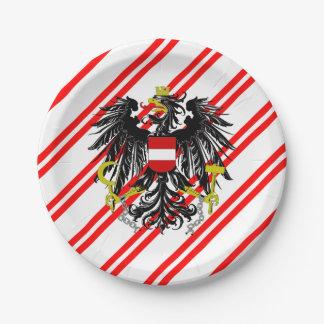 Österreichische Streifenflagge Pappteller
