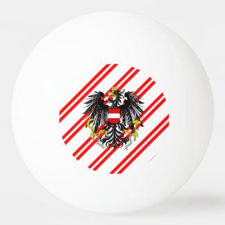 Österreichische Streifenflagge Ping-Pong Ball