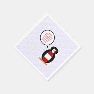 Österreichischer Feiertags-Herr Penguin Papierservietten