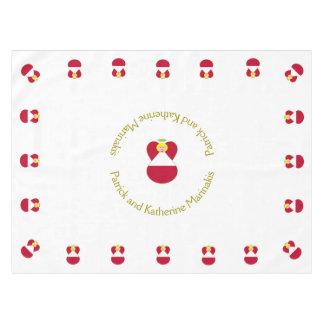 Österreichischer Flaggen-Engels-blondes Haar Tischdecke