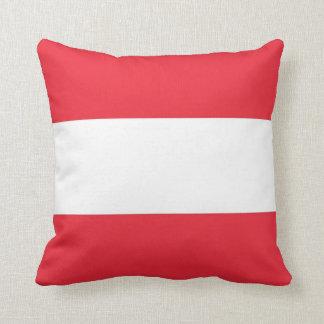 Österreichisches Flaggen-Amerikaner MoJo Kissen