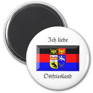 Ostfriesland Flaggen-Edelstein Kühlschrankmagnete