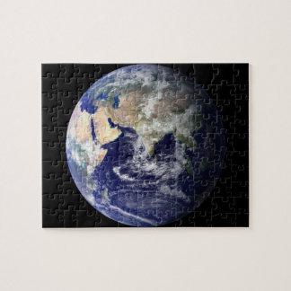 Osthemisphäre von Erde vom Raum Puzzle