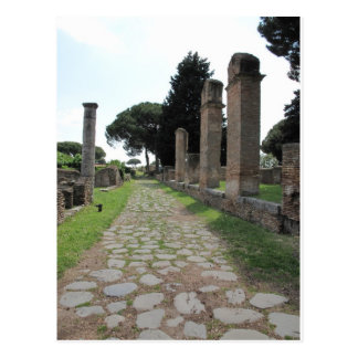 Ostia - Hafen-Stadt von altem Rom Postkarte