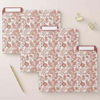 Ostinder-Blumenmuster im Rosa Papiermappe