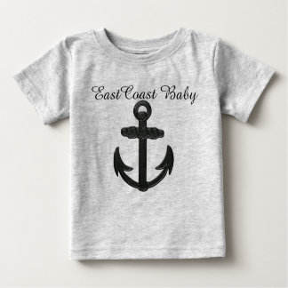 Ostküsten-Baby-Anker-Leuchtturm-Weg Baby T-shirt