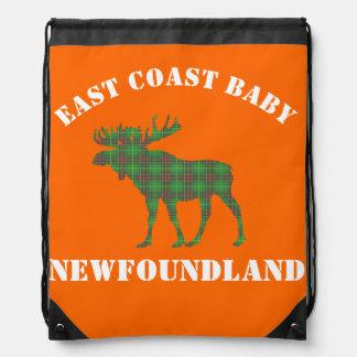 Ostküsten-Baby-Neufundland-Elche Tartan-Reise Turnbeutel