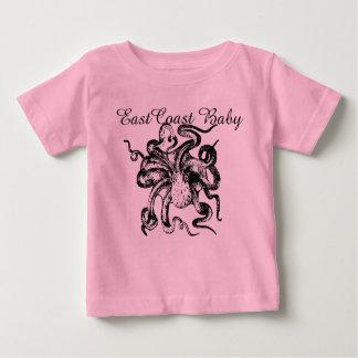 """Ostküsten-Baby-Shirt Krake """"Leuchtturm-Weg """" Baby T-shirt"""