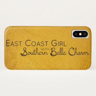 Ostküsten-Mädchen mit südlichem Schönheits-Charme iPhone X Hülle