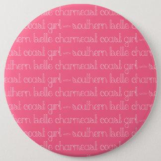 Ostküsten-Mädchen mit südlichem Schönheits-Charme Runder Button 15,3 Cm