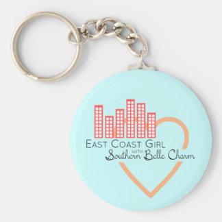 Ostküsten-Mädchen mit südlichem Schönheits-Charme Schlüsselanhänger