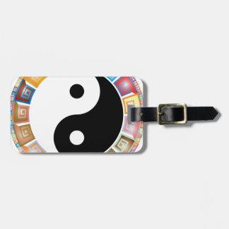 östliche asiatische Philosophie yin Yang Kofferanhänger