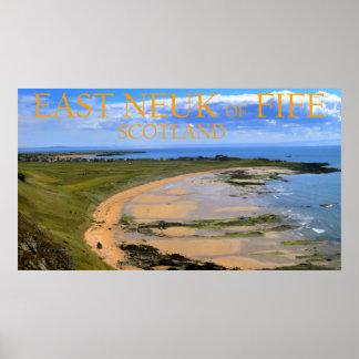 OstNeuk der Pfeife, Schottland Poster