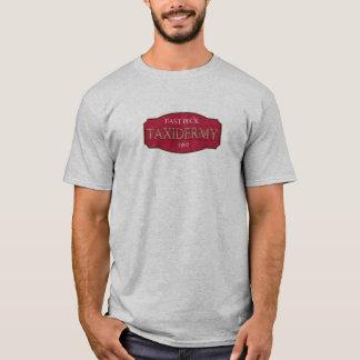 OstPeckTaxidermylogo vom Versuch u. vom Fehler T-Shirt