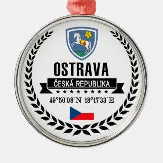 Ostrava Silbernes Ornament