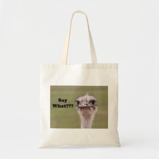 Ostrich-Kopf sagen, welches Foto Tragetasche