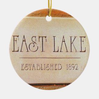 Ostsee, Decatur, Georgia, Weihnachtsverzierungen Rundes Keramik Ornament