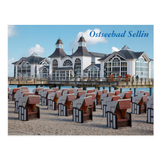 Ostseebad Sellin auf Rügen Postkarte