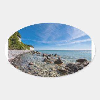 Ostseeküste auf der Insel Ruegen Ovaler Aufkleber