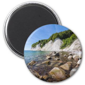 Ostseeküste auf der Insel Ruegen Runder Magnet 5,1 Cm