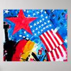 Ostseiten-Galerie, Berliner Mauer, Flaggen Poster