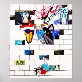 Ostseiten-Galerie, Berliner Mauer, Ziegelstein-Kun Poster