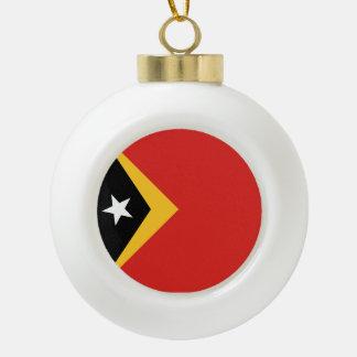 Osttimor-Flagge Keramik Kugel-Ornament