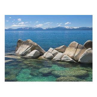 Ostufer-Felsen, Lake Tahoe… Postkarte
