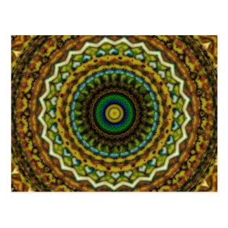 Ostversprechen-Mandala-Kaleidoskop-Muster Postkarten