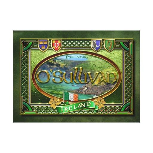 O'Sullivan-Familien-Fahne Galerie Gefaltete Leinwand