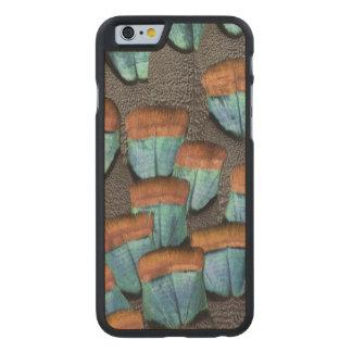 Oszilliertes die Türkei-Federmuster Carved® iPhone 6 Hülle Ahorn