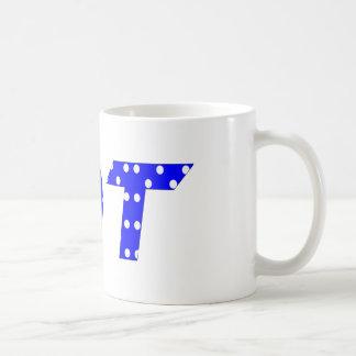 OT Blau und Weiß Kaffeetasse