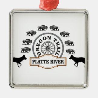 OT Platte Ring Silbernes Ornament