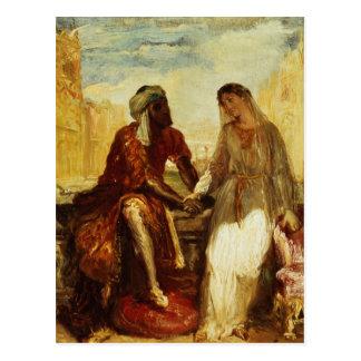 Othello und Desdemona in Venedig, 1850 Postkarte